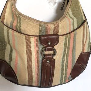 """ETIENNE AIGNER Canvas Shoulder Bag 12""""x9"""""""